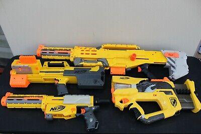 Lot of 4 NERF guns, Longshot CS6, Deploy CS6, Recon CS6 and Firefly Rev8
