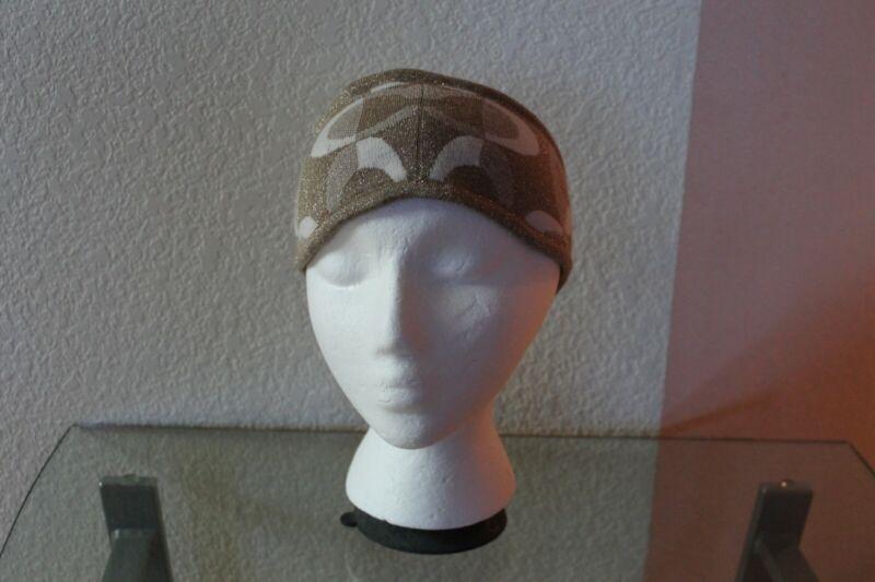 Coach Beige Sparkling Headband