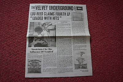 VELVET UNDERGROUND Express 45th Anniversary Loaded paper promo poster lou reed