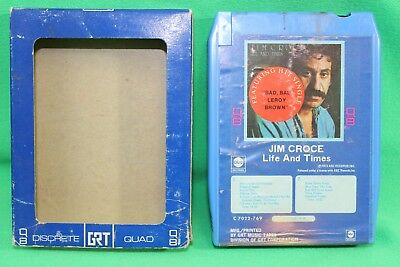 Jim Croce Life and Times 8 Track Cartridge Quadraphonic Quad Q8 with Sleeve for sale  Abilene