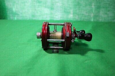 Awesome Vintage ABU Garcia 5000 Ambassador Fishing Reel - Red woks great 151083