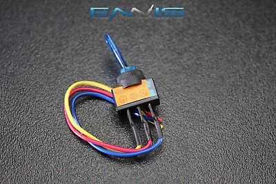 Toggle Switch On Off Blue Rocker Led 12v 20 Amp 3 Pin Is-ec-it1220blu