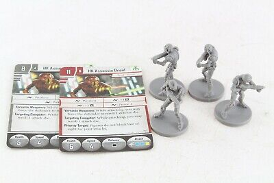 Star Wars Miniatures HK Assassin Droid x 4 Imperial Assault Group Hoth Set