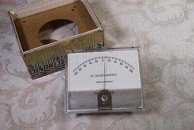 Vintage Allied 4.5 Microamperes - 100ma Panel Meter In Box - Has Corner Crack