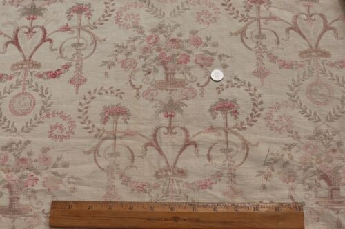 """French Antique c1910-1920 Faded Linen Home Dec Fabric~18thC Style~L-52""""X W-33"""""""