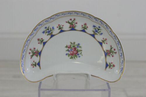 BERNARDAUD LIMOGES France Chateaubriand Bone Dish-Plate Blue /w Rose /r