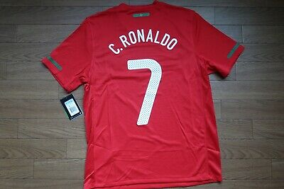 Portugal #7 C. Ronaldo 100% Original Soccer Jersey 2010/2011 Home M BNWT [3205] for sale  Shipping to United States