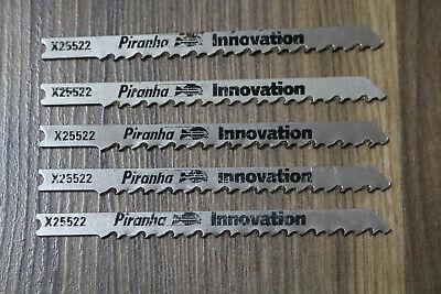 Black & Decker X25522 Wood cutting U shank jigsaw blades pk 5 Piranha Innovation