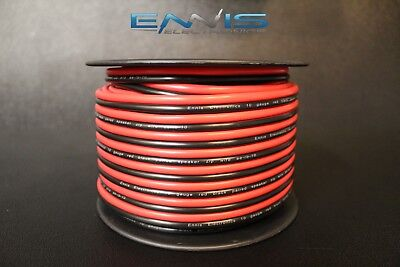 10 GAUGE 100FT RED BLACK ZIP WIRE AWG CABLE POWER GROUND STRANDED COPPER CLAD EE for sale  Shipping to Canada