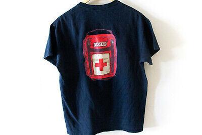 Vintage Video Game T-shirts - Vintage Think Geek LEFT 4 DEAD Health Pack Video Game T-Shirt Size Med