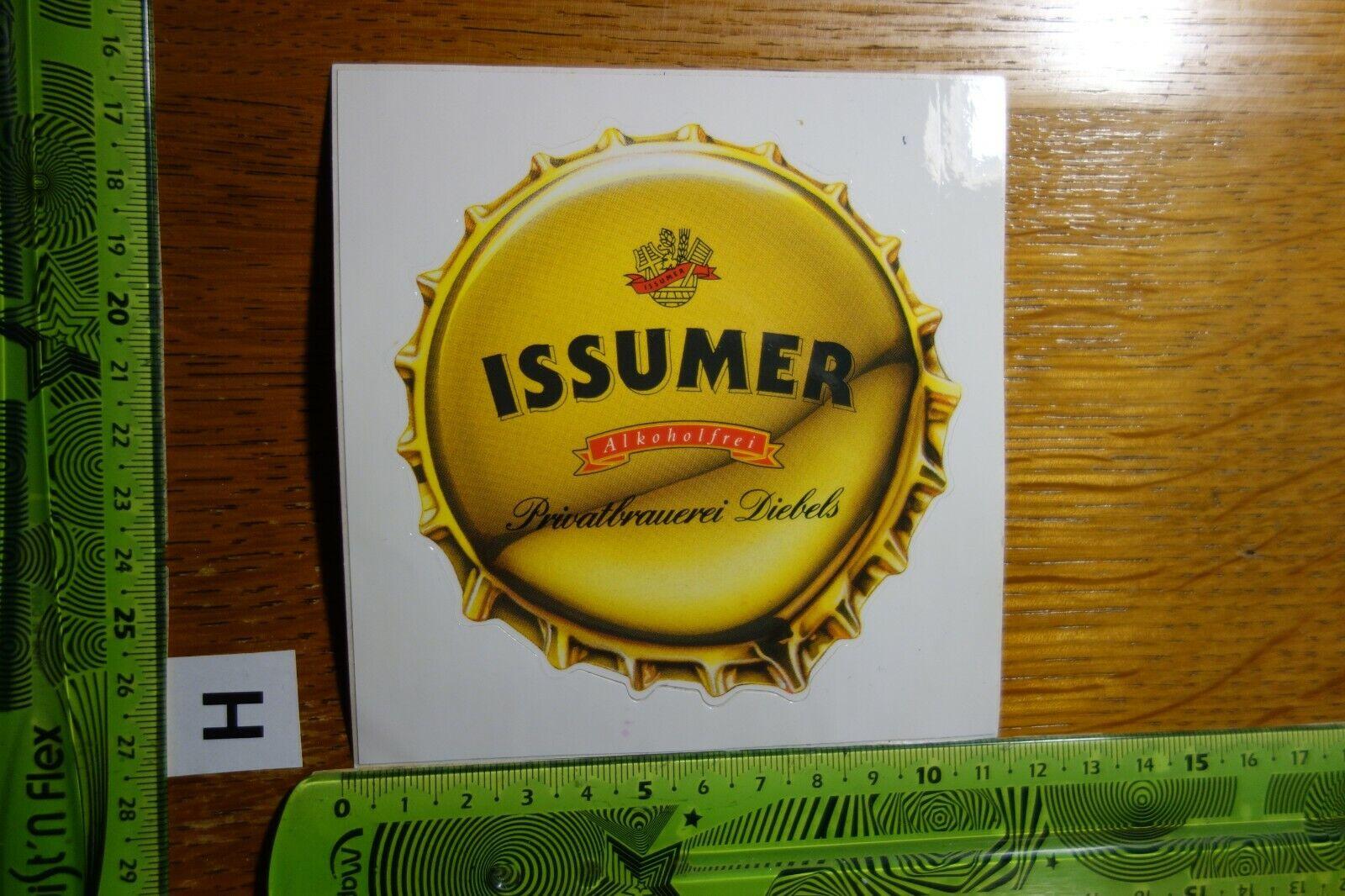 Alter Aufkleber Brauerei Bier Pils Diebels ISSUMER Alkoholfrei