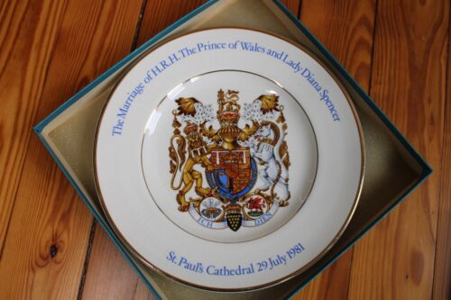"St Pauls Cathedral Royal Wedding Diana Spencer Prince Wales 10"" Plate Wood Sons"