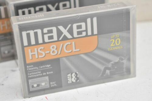 MAXWELL 8MM VIDEO8 HI8 D8 DIGITAL8 DATA8 HEAD CLEANING CLEANER CLEAN TAPE NEW IP
