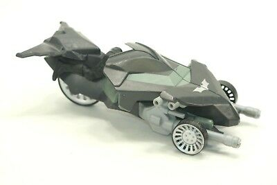 BATMAN 3 Wheeled Bike Transform to Attack Fighter Toy w Figure 2012 Mattel USED