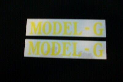John Deere Model G Decal - Mylar