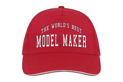World's Best Model Maker Baseball Hat Cap Gift Models Train Restorer Job