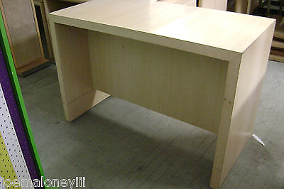 Blonde Retail Display Table Office Work Table Merchandise Desk Table