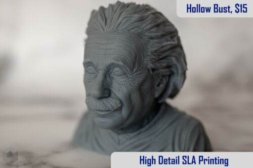 Pronamic SLA Resin 3D Printing Service, Miniatures, Bust🌟10% Girls Who Code🌟