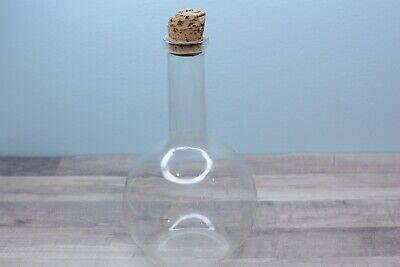 Vintage Pyrex 1000 Ml Flat Bottom Boiling Lab Glass Flask W Green Mark
