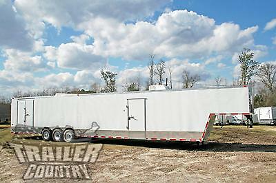 New 2019 8.5x48 8.5 X 48 Enclosed Gooseneck Cargo Car Hauler Toy Trailer Loaded