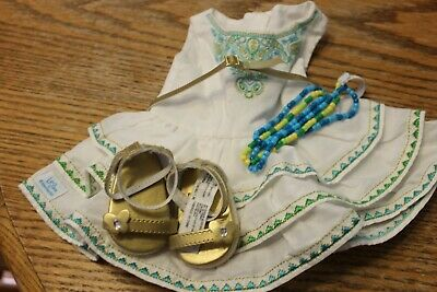 Diva American Girl Doll Lot EUC Lea Celebration Outfit Sandals Dress Headband