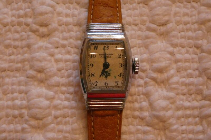Antique WORKING 1947 Girl Scout Watch & NEW 100th Anniversary Bandana - NICE!