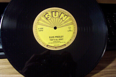 ELVIS PRESLEY SUN RECORD THATS ALL RIGHT RARE LIMITED EDITION ONLY 5000 PRODUCED