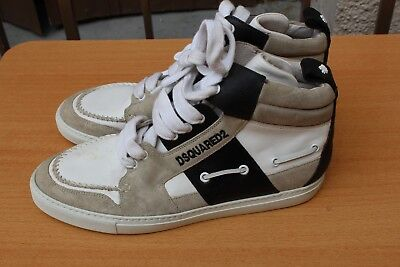 Chaussure sneaker montante dsquared cuir 42 neuf