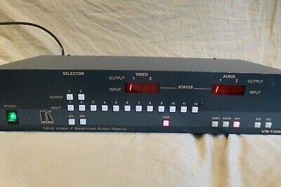 Kramer VS-1202XL 12x2 Composite Video & Balanced Stereo Audio Matrix Switcher
