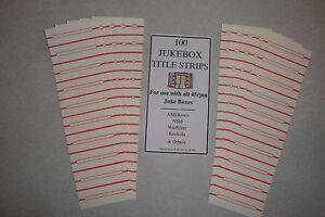 jukebox blank title strips jukebox labels 45rpm 100 strips