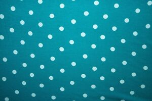 51f5b4997e0 Turquoise Polka Dot Jersey Knit Print #261 Rayon Modal Spandex Lycra Fabric  BTY
