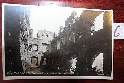 Postkarte Ansichtskarte Rheinland-Pfalz Burg Rheinfels St,Goar am Rhein
