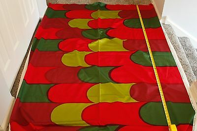 "Marimekko Fabric - NOSTOSILTA - Red/Green - 36""x58"" - SATEEN"