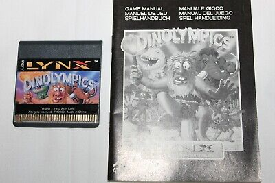 Dinolympics for the Atari LYNX, game and manual, tested and works great!