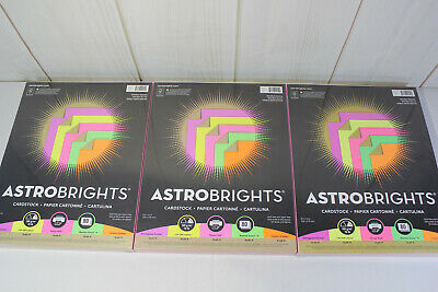 Lot Of 3 Astrobrights Colored Paper 70 Lb 8.5 X11 240 Sheets Double Dazzle
