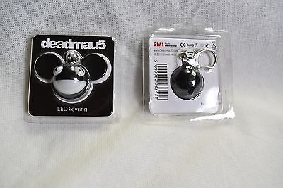 DEADMAU5 BLACK FACE LED KEYRING KEYCHAIN NEW IN BLISTER PACK OFFICIAL RARE