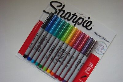 New Sharpie Precision Ultra Fine Permanent Markers 1788527 -- 12 Markers