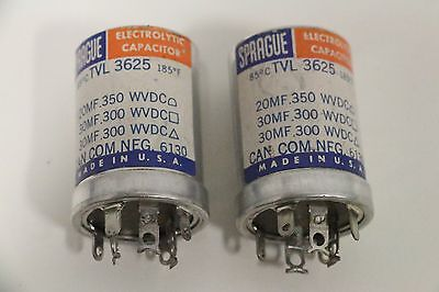 Lot Of 2 Sprague Electrolytic Capacitor Tvl-3625 185f