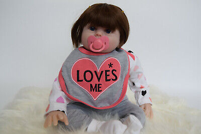 """22"""" Reborn Soft Vinyl Baby Doll Clothing & Accessories - Baby Girl Love Me Doll"""