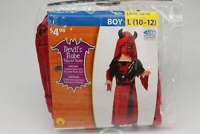 Halloween Dress Up For Boys (BOYS Dress Up Halloween Costume DEVIL'S ROBE ; New in Package Medium 10-12 ;)