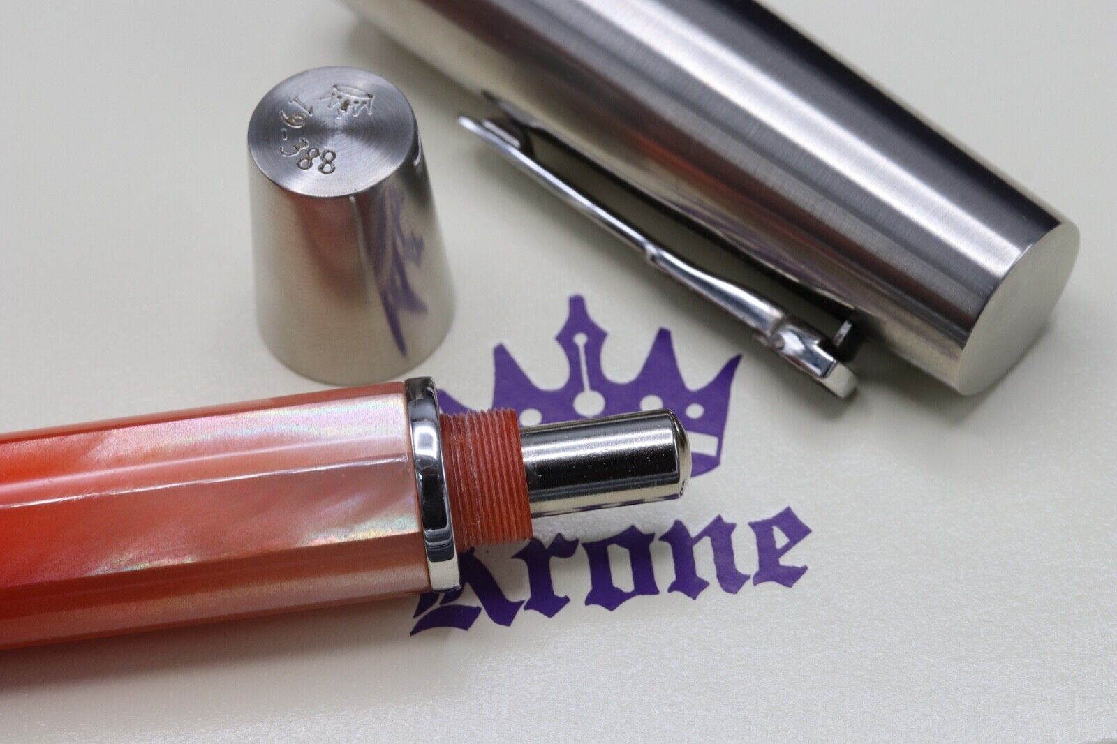 Krone Gradient Coral Red Limited Edition Fountain Pen 4