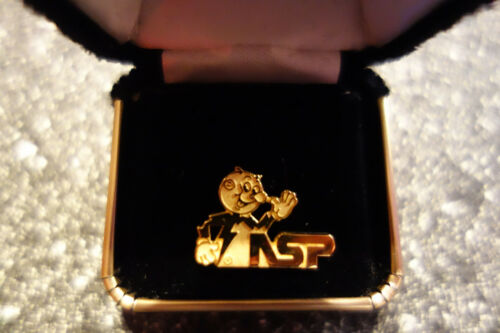 1 Rare Reddy Kilowatt Sterling Silver pin/tack/link ELECTRICIAN GIFT
