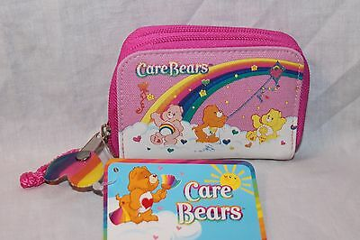 NEW WITH TAG RAINBOW CARE BEARS PINK COIN AND ID WALLET