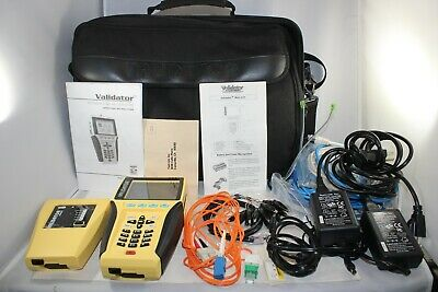 Test-um Jdsu Validator Nt900 Network Lan Ethernet Cable Tester Nt 900 Nt-900 Bag