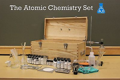 Atomic Chemistry Set | Chemistry Set / Glassware / Chemicals / Lab Equipment - Kids Chemistry Sets