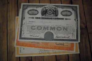 3-different-old-USA-railroad-stock-certificates-nice-used