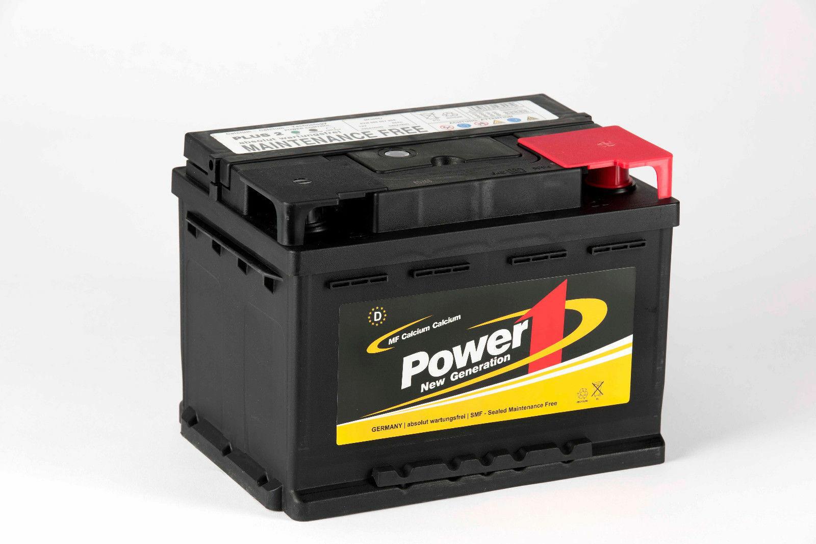 BSA Autobatterie 52Ah 12V extrem Leistungsstark 520A//EN ersetzt 44Ah 45Ah 50Ah
