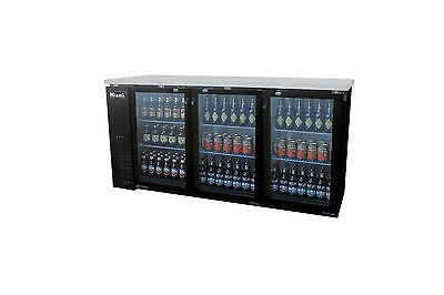 Migali C-bb72g-hc Three Door Back Bar Beer Cooler Glass Merchandiser