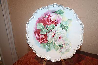 Beautiful Vintage Porcelain Floral Z.S. & Co. Bavaria Charger Plate