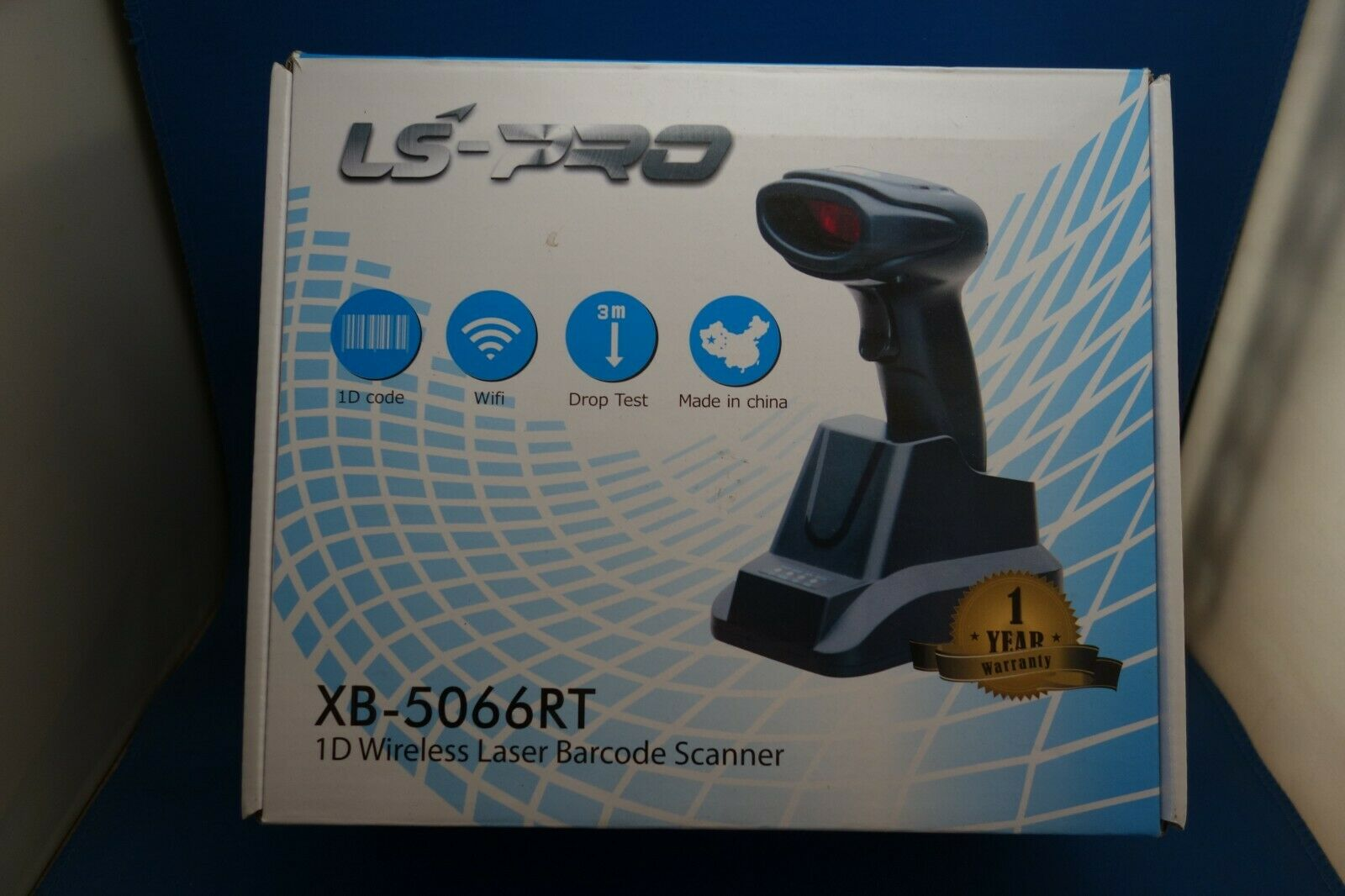 LS-PRO Wireless Barcode Scanner with USB Cradle Receiver Cha
